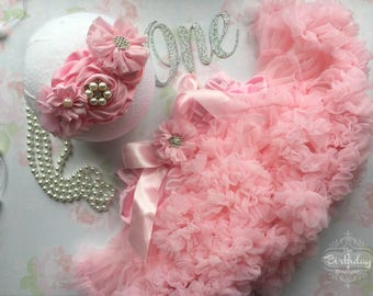 Cake Smash Outfit Girl| Birthday Girl Outfit 1| 1st Birthday Girl| Toddler Birthday Outfit| Cake Smash Props| Photo Prop Girl| Pink Skirt