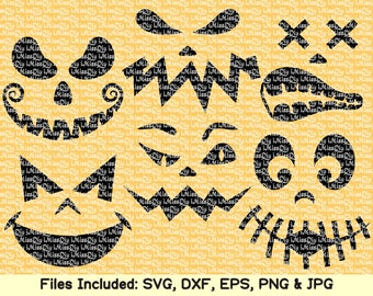 Scary Halloween svg files for cricut silhouette ghost svg pumpkin smiley face jack o lantern svg shirt charm mug decal clipart dxf cut files