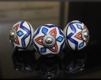 Trisymbol Ceramic knob poignées de meubles Cabinet Möbelknopf Dresser Keramik knöpfe drawer Bouton Perillas -Price is of 1 nobs (OHK0137)