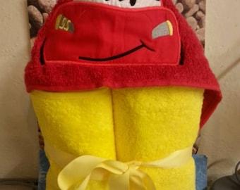 Racecar Hooded Towel