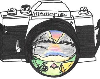 8x10 High Quality Art Print - Memories