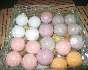 Sample Wholesale Box of 42  Bubbly Bath Bombs