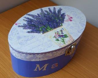 My box Secret Lavender oval wooden