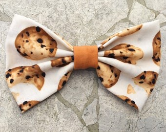 Cookie themed hair bow/bow tie