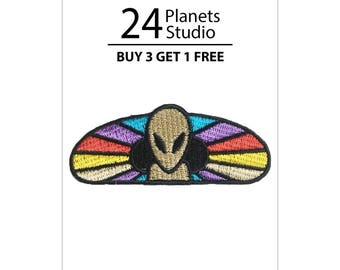 Alien Galaxy Iron on Patch by 24PlanetsStudio