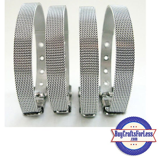 Stainless Steel BRACELET - also fits 8mm Slider Letters and Charms +FREE Shipping & Discounts*