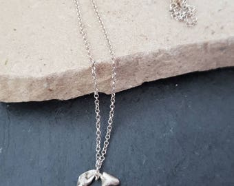 Raw organic 925 Sterling Silver - Artisan Pendant