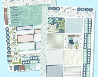 Winter Wonderland Weekly Sticker Kit // Planner Stickers // Mini Happy Planner