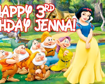 Snow White Birthday Banner/Backdrop *Personalized*