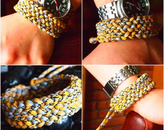 Mad Max Style Conquistador Paracord Bracelet Wristband Adjustable Without Buckle