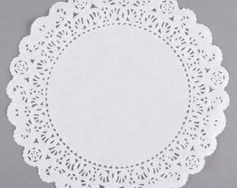 "10"" 50PCS White Paper Lace Grease Proof Doilies, Paper Doilies, Doily, Lace Doily, Lace Doilies, Grease Proof Doilies, White Lace Doily"