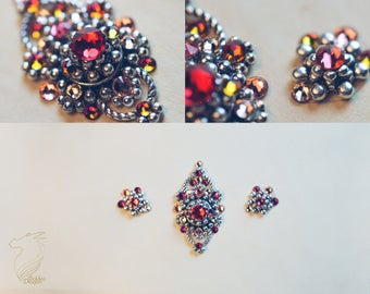 Bindi set with Swarovski crystals