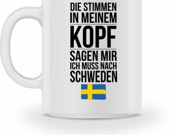 High quality Cup with quote Sweden gift