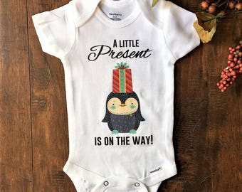 Christmas Baby Announcement, Christmas Baby Announcement Onesie, Christmas Baby Reveal, Christmas Baby Reveal Shirt, grandparent, new baby