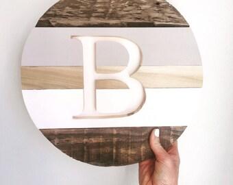 Monogrammed round sign