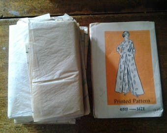 vintage   women's caftan and pants     Printed Pattern 4919 SIZE 38