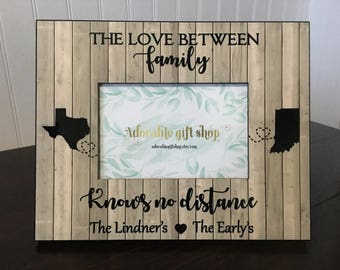 The love between family knows no distance // Long distance states  picture frame