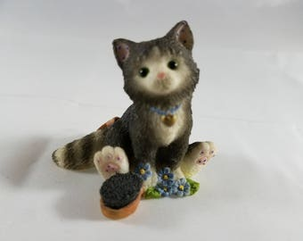 """Two Vintage Collectable Calico Kittens """"Bombay"""" and Norwegian."""