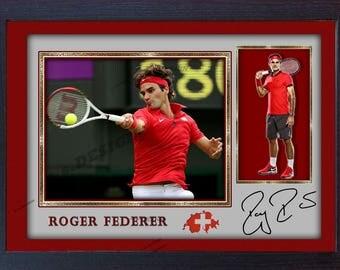 Roger Federer signed autographed Tennis Memorabilia Framed #0018