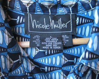 """Nicole Miller Limited Edition 'Martini"""" shirt- reduced from 85.00"""