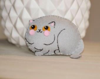 Mini cat plush felt