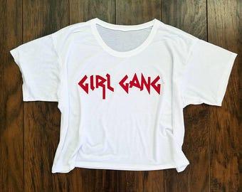 Girl Gang Flowy Crop Tee