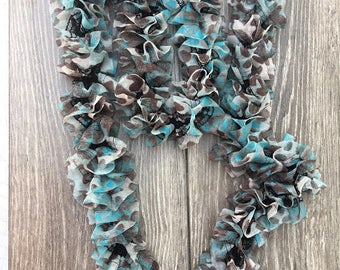 Knitted Ruffle Scarf