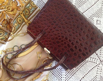 Vintage reptile classic handbag 1960s by Interwainer