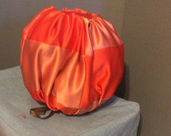 Duchesse Satin quilted stuffed pumpkin-Medium