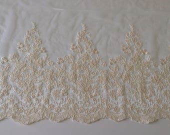 Sheer curtain very soft and silky embroidered guipure