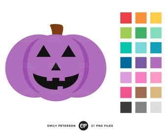 Jack o' Lantern Clip Art, Halloween Clipart, Pumpkin Clip Art - Commercial Use, Instant Download
