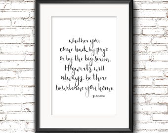 A4 Harry Potter Hogwarts Quote Print