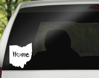 Ohio Decal, State Decal, Ohio Car Decal, Ohio Home Decal, State Car Decal, Ohio State Decal, Laptop Decal, Tumbler Decal, Water Bottle Decal