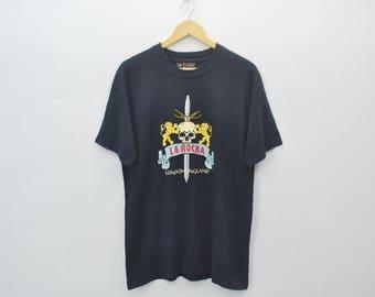 LA ROCKA Shirt Vintage 90's La Rocka England Tee T Shirt Size M