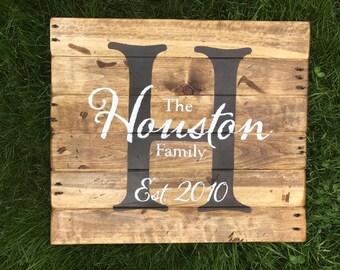 Family Sign - Custom, Pallet wood, wedding gift, reclaimed wood, farmhouse decor Active