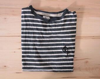 Vintage Calvin Klein stripe t-shirt