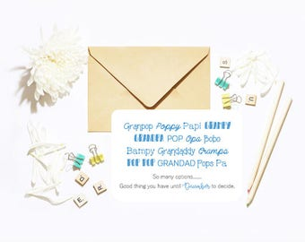 You're Going To Be A Grandad Grandpa Options! Single Postcard With Envelope Baby Pregnancy Announcement!