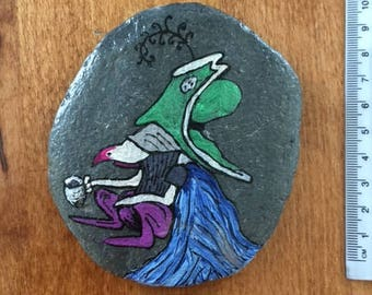 Goblin Labyrinth Painted Stone Ooak Fantasy