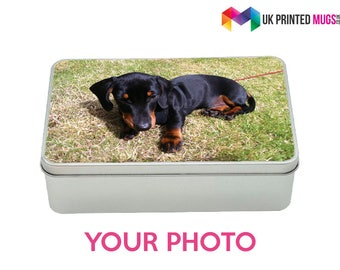 Personalised Photo Metal Storage Tin Box Gift