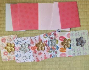 "Handmade blank note cards set, 6 pack Paris theme, 3""x4"" assorted note cards, thank you notes,  Handmade cards,ships free"