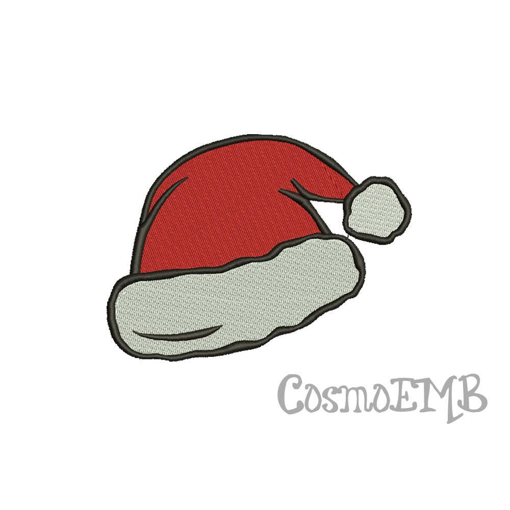 8 Size Santa Hat Embroidery Design Machine Embroidery