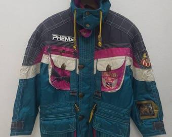 Rare Vintage Phenix U.S. Alpine Ski Team 90'S Jacket Multicolour Nice Design