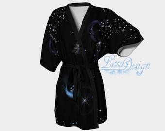 Kimono dress, dressing gown, bathrobe, printed kimono, printed, kimono woman, trendy kimono dress, trendy kimono, kimono fashion
