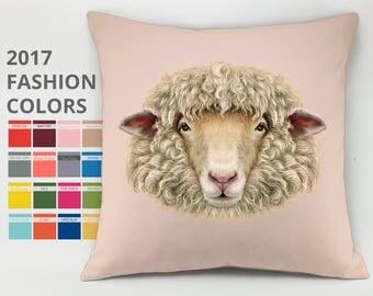 Sheep pillow case lamb pillow animal pillow sheep cushion mutton pillow jumbuck pillow ewe pillow funny pillow baby pillow decorative pillow