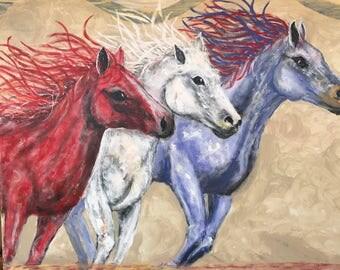 Freedom original painting by C. Gaer Barlow