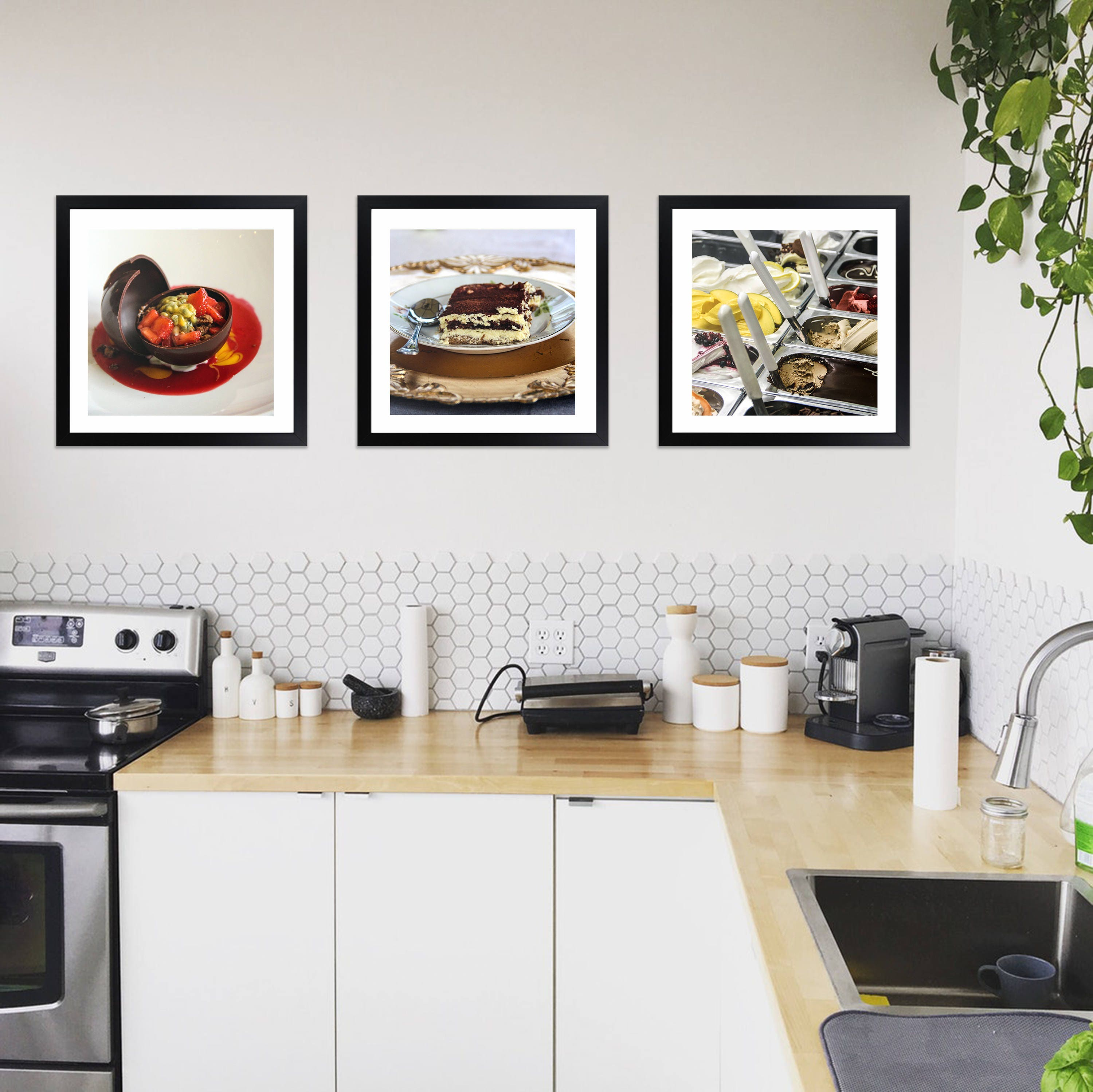 Italian Kitchen Prints Featuring Italian Desserts - Square Framed ...