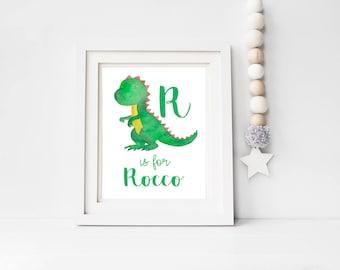 Personalised New Baby Name Print, Birth Print, Nursery Print, Dinosaur Nursery Decor, Unique Baby Gift,Nursery Wall Art, Baby Boy Soldier
