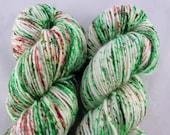 Charmed - Holly and Ivy - DK weight yarn - 100g. Merino. Christmas Sock Yarn. Yule yarn. Christmas shawl yarn. Shawl yarn. Hand dyed yarn.