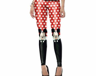Dotted mickey mouse leggings