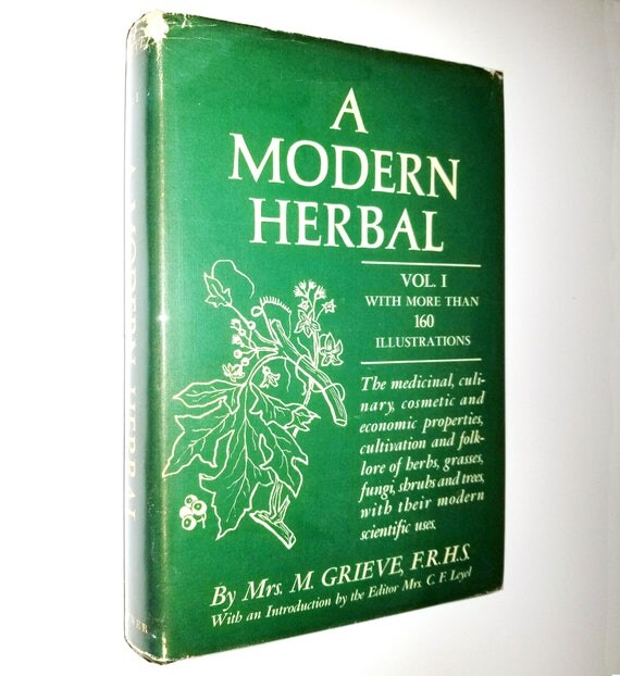 A Modern Herbal Volume I (A-H) by Mrs. M. Grieve 1967 Hafner Publishing - Hardcover HC w/ Dust Jacket DJ - Herbs Grasses Fungi